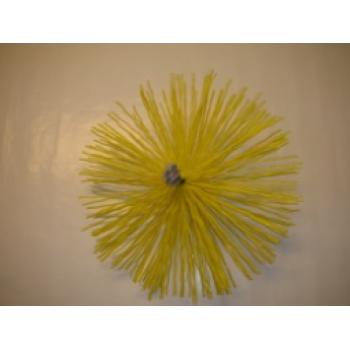 Щетка в спуновом корпусе с жестким ворсом для круглых воздуховодов (жировые) 160мм