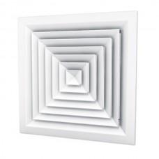 Потолочный квадратный диффузор с регулировкой CD+C 300х300  (RAL 9016)