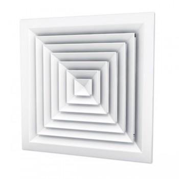Диффузор квадратный с регулировкой CD+C 300х300  (RAL 9016)