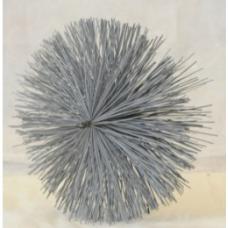 Щетка в спуновом корпусе с абразивным ворсом для круглых воздуховодов (жировые) 200мм